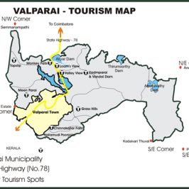 Valparai Route Map